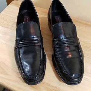 Florshiem Black Leather Slip-On, sz 10.5 B